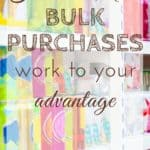 Every so often, I get a little carried away with my sale shopping, especially bulk purchases. I love these tips to avoid making unnecessary bulk purchases.