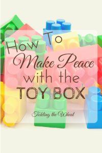 When your urge to micromanage the toy box sets in, take control and make peace with the toys.