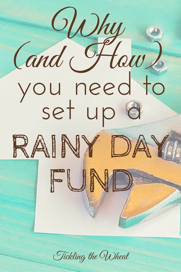Don't break your bank every time your furnace breaks. Here's how (and why) to set up a rainy day fund.