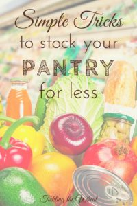 Creating a well-stocked pantry will make your life simpler. Check out these tips to stock your pantry while staying under your grocery budget.