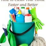 These tips to speed clean your home will help you have a cleaner, more organized house fast!