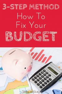 What do you do when your budget no longer works? When your budget fails you, you need to have a plan. Use this step-by-step guide to get back on track.