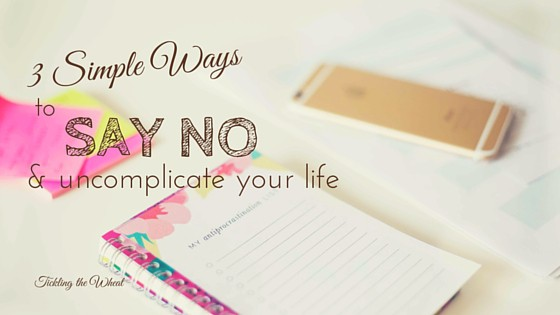 We can all agree that there aren't enough hours in the day, but one of the simplest ways to make time for the things that really matter is to just say no. Here are three ways to say no so you can focus on the good things in life.