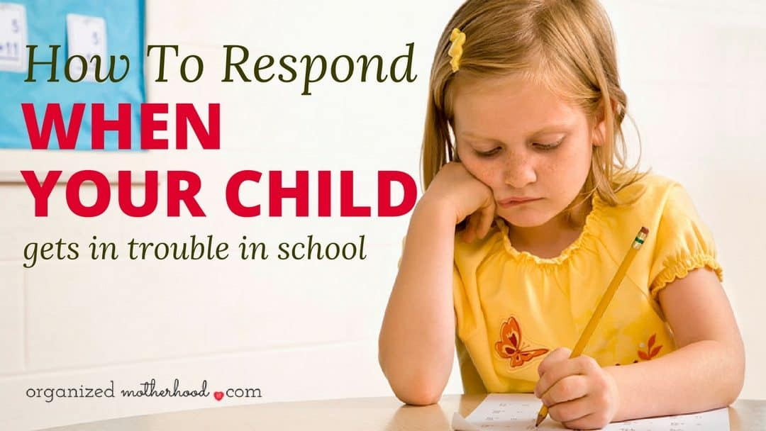 If your child is in trouble in school, don't panic! These tips will help you work with your child's teacher and take corrective action to stop the behavior issues.
