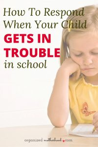 If your child gets in trouble in school, these simple tips can help you work with the teacher to create a plan. Written by a mom and teacher, this advice helped me work with my son's teacher when he was in kindergarten.