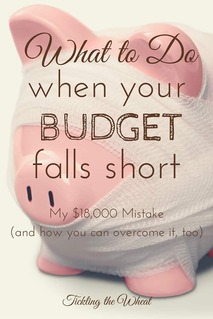 Have you ever reviewed your budget, only to have an absolute panic attack? I recently made a HUGE budgeting mistake. Here are some tips to get through your worst budget problems.
