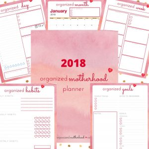 The Organized Motherhood Planner helps you keep track of everything from your daily to-do list, upcoming appointments, healthy habits, and goals all in one place.