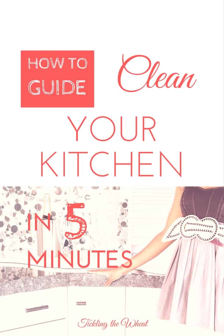 How to clean your kitchen in 5 minutes for How to clean your kitchen