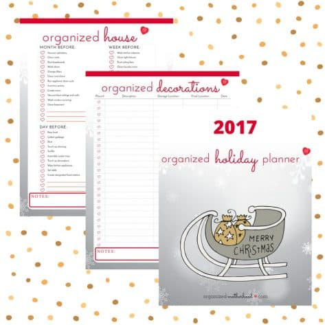 Organize your home and holiday decorations with the printable Organized Holiday Planner. Download your free copy to get ready for Christmas!