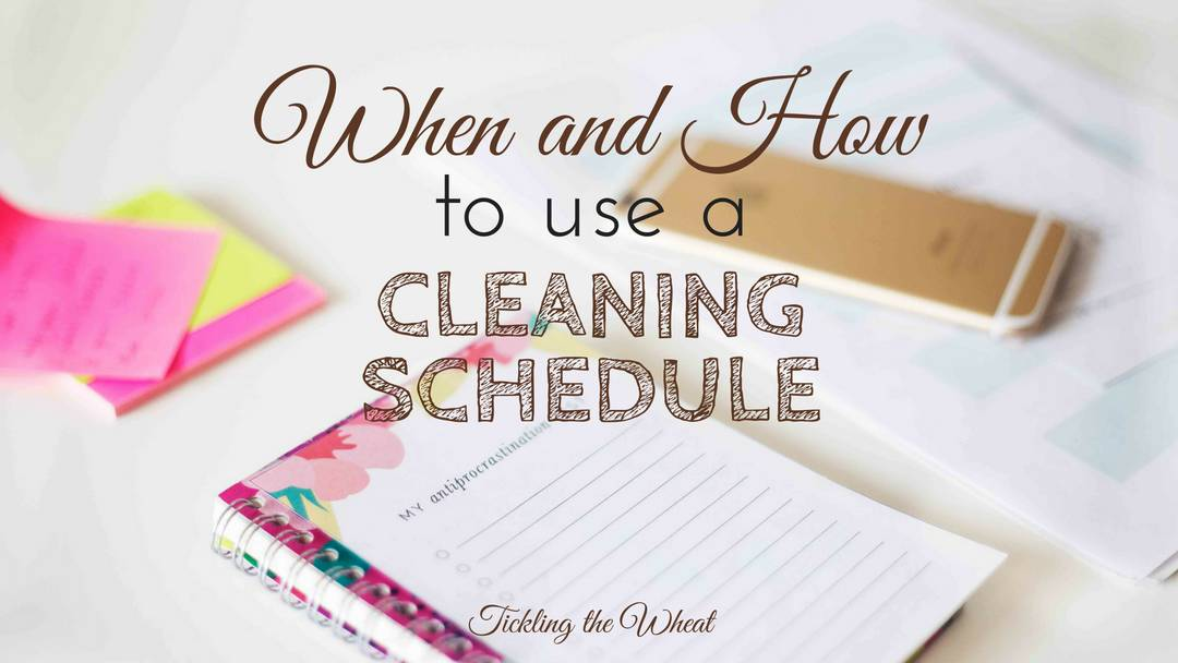 When and How to Use a Cleaning Schedule
