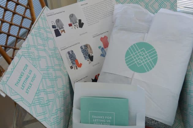 Each Stitch Fix delivery comes with a style card to help you pair your new clothing into cute outfits.