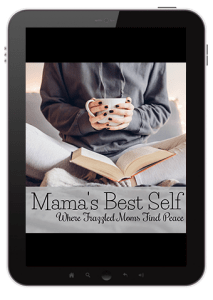 The Mama's Best Self course will teach you the importance of self-care and how you can be more organized and calm so you can be a great mom!