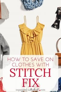 Stitch Fix is great to get fashionable clothes, but it can get expensive quickly. These 3 tips will help you save money on clothes while still looking great!