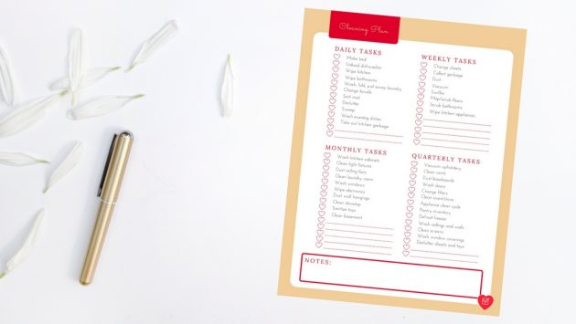 Trying to create a cleaning routine? Try this daily, weekly, and monthly cleaning planner.