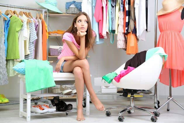Deciding what to wear is so much easier when you use a closet organizing system.
