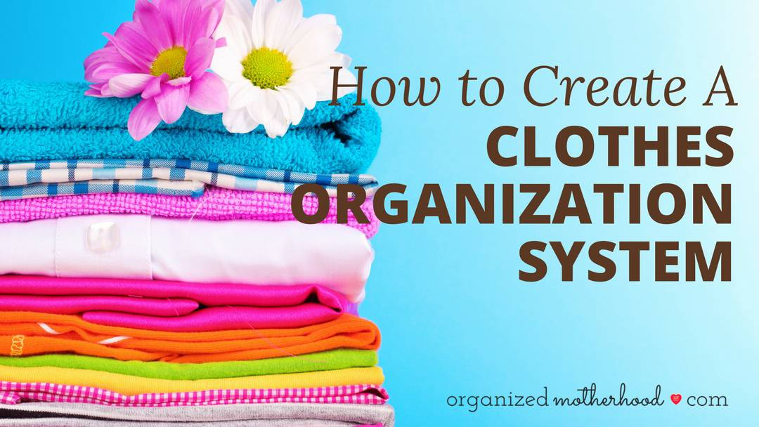 Organizing your clothes (even if it's just so that you don't wear the same outfits repeatedly to preschool drop-off) can be simple with this printable. Learn how and why to create a clothes organization system.