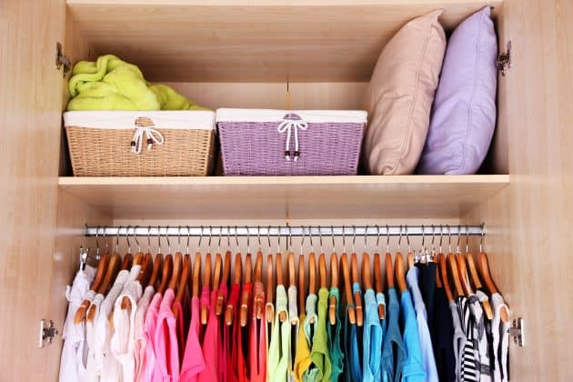 Organizing your wardrobe can make getting dressed in the morning so much easier.