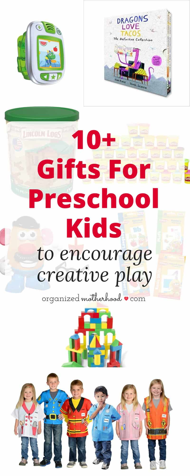 Looking for the perfect gift for a preschooler? These toys encourage creativity and learning in preschool kids. Perfect for Christmas presents!