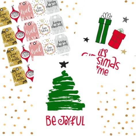 Whether you need a pretty printable, gift tags, or a holiday card, get it in the Organized Holiday Planner.