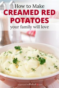 These creamed red potatoes are the easiest, best mashed potato recipe. I made them for my kids and then brought them as a Thanksgiving side dish. Amazing!