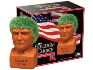 Regardless of your political views, you'll love this Donald Trump chia pet.