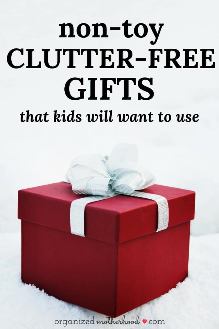 Looking for clutter-free gifts for kids this year? These non-toy presents are perfect for Christmas.