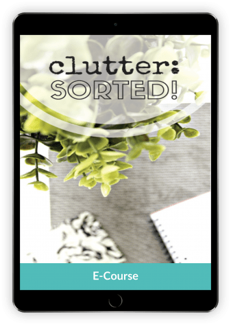 Declutter and organize your home at a relaxed pace with the Clutter: Sorted course.