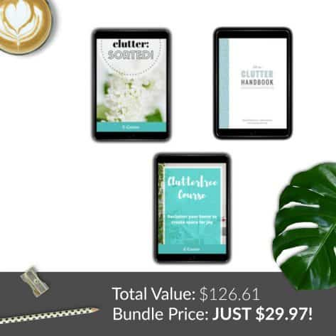 Decluttering resources from the Ultimate Homemaking Bundle