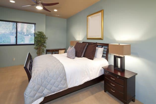By creating a calm sleep environment with a peaceful bedroom, you'll be able to sleep better at night.
