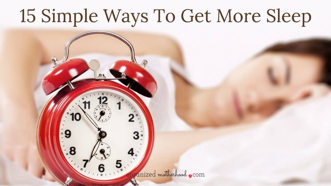 15 Tricks to Get More Sleep