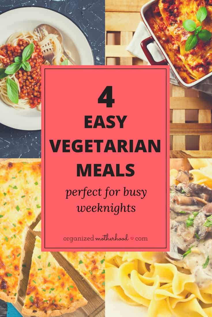 If you have food allergies or dietary restrictions, these easy to make vegetarian recipes are delicious. Most of them are a twist on traditional favorites, perfect if you're trying to add meatless recipes to your meal plan. Even my picky eaters love these dinners!