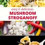Perfect for Meatless Monday, this vegetarian stroganoff recipe is easy to make and delicious. Loaded with mushrooms, it's a hearty twist on traditional beef stroganoff.