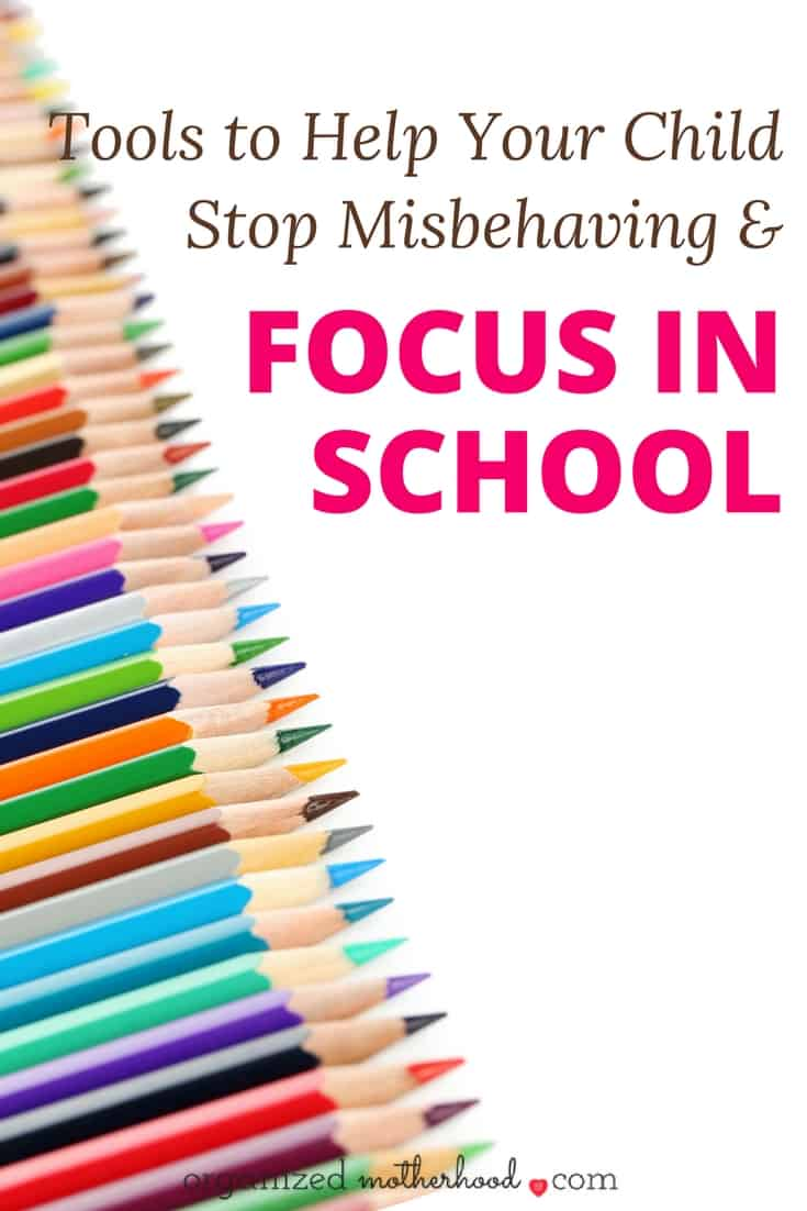 If your child has been misbehaving or getting in trouble at school, these tools will help him pay attention, stay focused, and keep calm. These resources were recommended by teachers and counselors when my son was acting out.