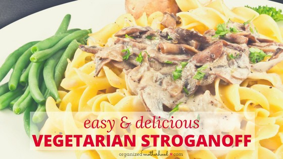 Easy and Delicious Vegetarian Stroganoff