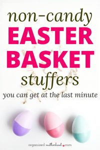 These are great ideas for Easter basket stuffers. Cute ideas if you're looking for non-candy ways to fill your kids' Easter baskets!