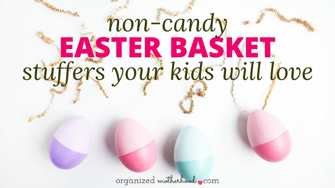 These non-candy Easter basket stuffers are a quick and easy way to fill your kids' Easter baskets. Even if you waited until the last minute to shop, these are great ideas your kids will love.