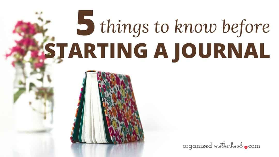 5 Things to Know Before Starting a Daily Journal Habit