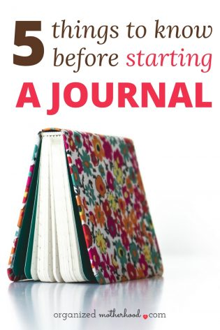 Thinking of starting a journal? Before you try a daily journal habit, read this first! These 5 tips will help you make the most of your journal so you get the benefits of less stress, more mindfulness, and better time management.