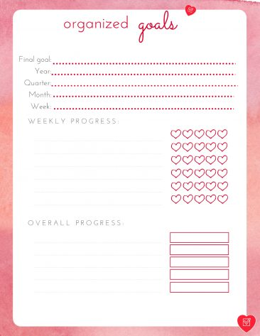 Use this free printable goal setting worksheet to break your goals into 90-day goals and track your progress.