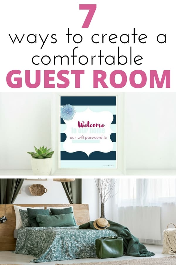 These 7 guest bedroom essentials will help you create a cozy, welcoming guest retreat on a budget. These simple tips to create a comfortable space also include a free printable wifi password!