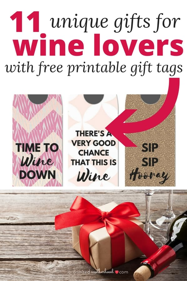 These fun and unique gift ideas for wine lovers are perfect to give to moms, dads, or even save for the holidays. There are so many good ideas (including free printable gift tags or wine labels). Combine the ideas to make a gift basket.