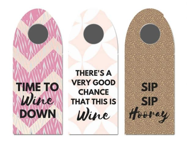 These cute printable wine tags are perfect to print and hang around a bottle of wine. They make the perfect gift tag!