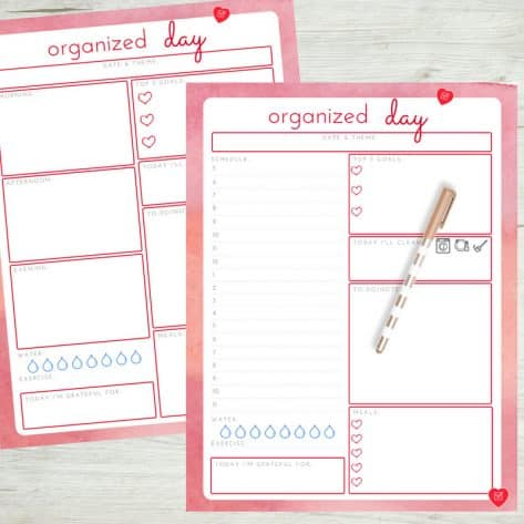 Use a daily planner layout based on the tasks that you need to complete each day.