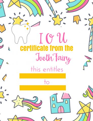 This tooth fairy IOU is perfect if you don't have any spare change or dollar bills when your child loses a tooth.