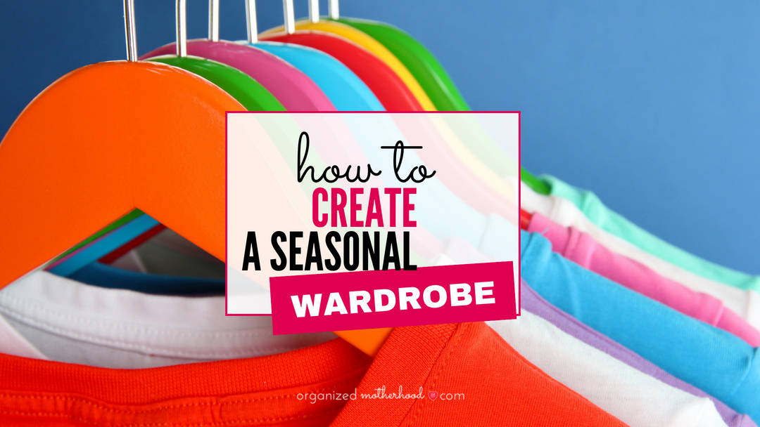 These tips to create a seasonal wardrobe are perfect if you live in an area with seasonal weather or if you're trying to declutter your clothes and simplify your outfits.