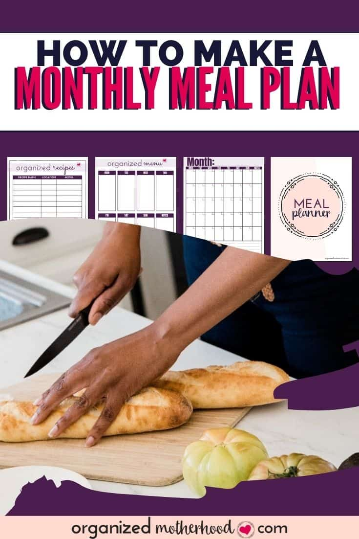 how to make a monthly meal plan (plus free printable meal planner)