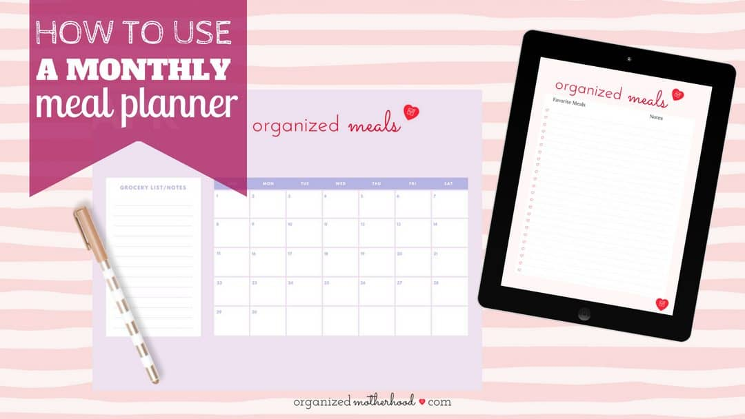 Set up your monthly meal plan the easy way! Plan your dinner menu and learn how to save time with this meal planner.