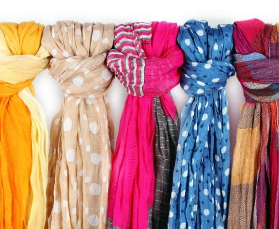 Easily declutter scarves and accessories with these tips.