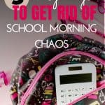Simplify your morning routine for school with these 3 easy steps. Get your kids ready and out the door without nagging!