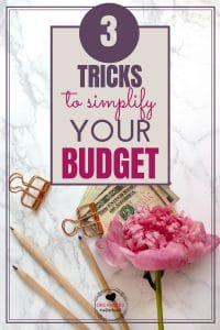 Simplify your budget with these three easy tips. Create a budget that helps you pay down debt, track your expenses, and reach your financial goals!
